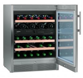 123 literes Liebherr üvegajtós borhűtő (bortemperáló) 2 külön szabályozható hőmérsékleti zónával