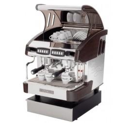 Expobar NEW ELEGANCE MINI CONTROL kétkaros kávégép daráló nélkül - fa borítással