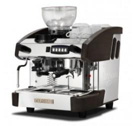Expobar NEW ELEGANCE MINI CONTROL egykaros kávégép darálóval - fa borítással