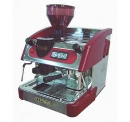 Expobar NEW ELEGANCE MINI CONTROL egykaros kávégép darálóval - bordó