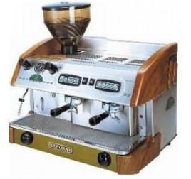 Expobar NEW ELEGANCE CONTROL kétkaros kávégép darálóval - fa borítással