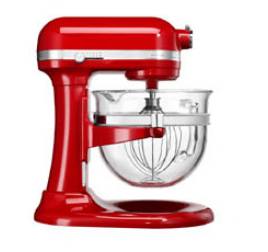 6 literes KitchenAid Artisan professzionális robotgép üvegtállal - piros