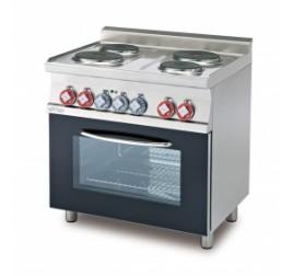 4 főzőlapos Lotus álló elektromos tűzhely elektromos statikuis és grill sütővel