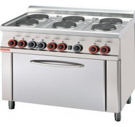6 főzőlapos Lotus álló elektromos tűzhely elektromos statikus és grill sütővel