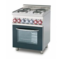 4 főzőlapos Lotus álló elektromos tűzhely elektromos multifunkciós sütővel