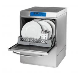 50x50 cm-es ürítőszivattyús tányér- és pohármosogatógép mosószeradagolóval, digitális