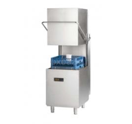 50x50 cm-es átfutó rendszerű gravitációs tányér- és pohármosogatógép mosószeradagolóval (6,8kW)