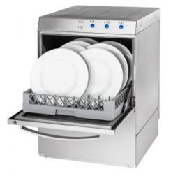50x50 cm-es ürítőszivattyús tányér- és pohármosogatógép mosószeradagolóval