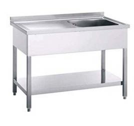 Rozsdamentes egymedencés mosogató jobb vagy bal oldali csepegtetővel, 40x50x30 cm-es medencemérettel