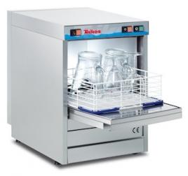 40x40 cm-es Teikos gravitációs pohármosogatógép mosószeradagolóval