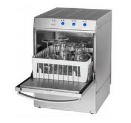 40x40 cm-es gravitációs pohármosogatógép mosószeradagolóval