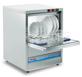 50x50 cm-es Teikos gravitációs tányér- és pohármosogatógép