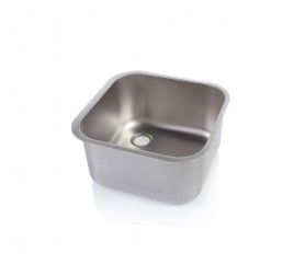 Négyszögletes mosogatómedence 40x40x25 cm-es medencemérettel
