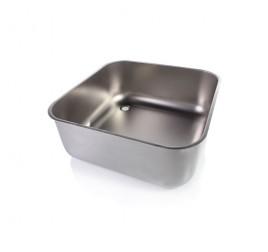 Négyszögletes mosogatómedence 70x70x30 cm-es medencemérettel