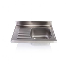 Egymedencés mosogatófedlap csepegtetővel, 50x50x30 cm-es medencemérettel
