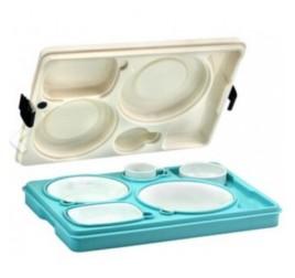 Kórházi thermo tálca porcelán edényekkel