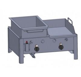 2 égős asztali lángos- és lapsütő (PB)