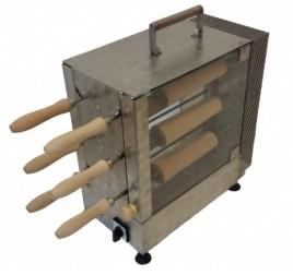 6+6 sütőfás elektromos kürtőskalács sütő gép
