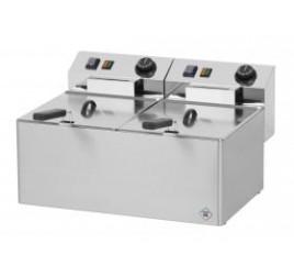 2x8 literes RedFox asztali elektromos olajsütő (Standard Line)