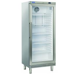 400 literes Cool Head üvegajtós cukrászati hűtőszekrény rozsdamentes külsővel