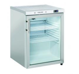 200 literes Cool Head üvegajtós hűtőszekrény rozsdamentes külsővel