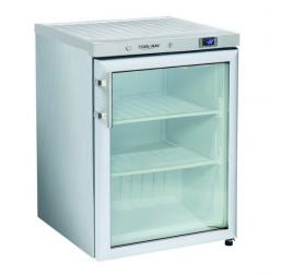 200 literes Cool Head üvegajtós mélyhűtő szekrény rozsdamentes külsővel