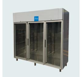 2100 literes üvegajtós, rozsdamentes hűtőszekrény