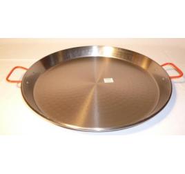 50 cm-es paella serpenyő, polírozott