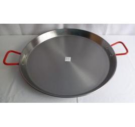 60 cm-es paella sütő tál, polírozott